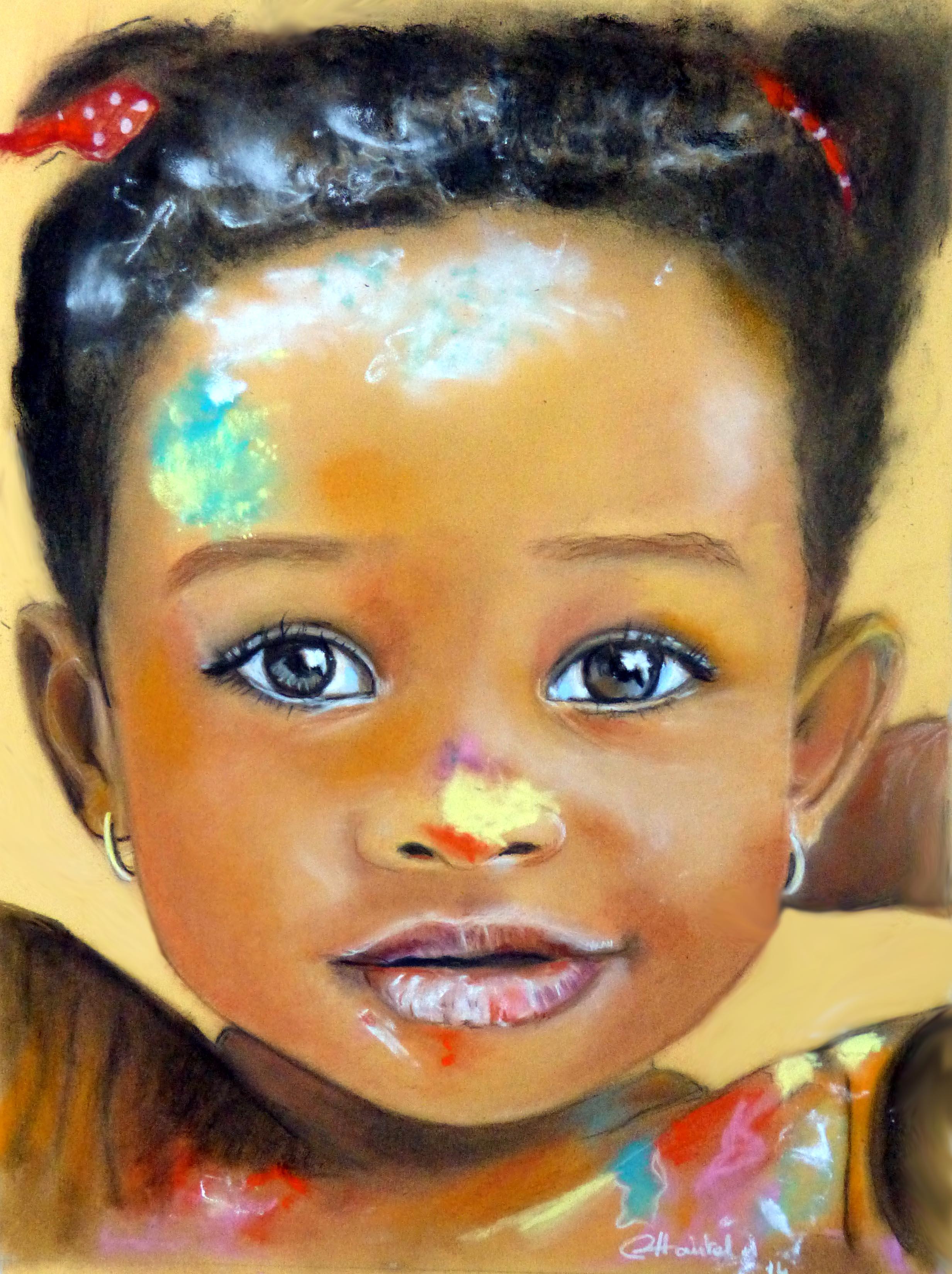La photo devient tableau for Mamadou au tableau j y suis deja